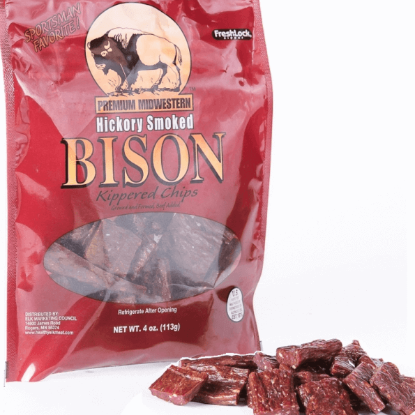Bison Kippered Jerky Chips 4oz